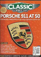 Classic and Sports Car auto magazine Porsche 911 Countach Corvette Alfa 8C