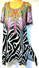 plus sz XL / 24 TS TAKING SHAPE St Tropez Tunic sexy bling luxe top NWT rrp$130!