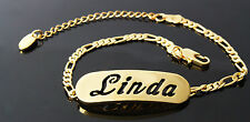 LINDA - Bracelet With Name - 18ct Yellow Gold Plated - Gifts For Her