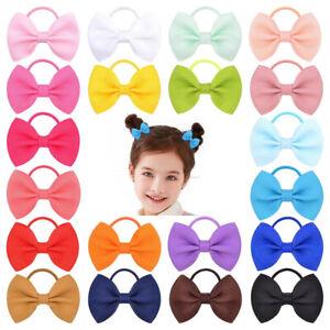 Hairband Bow Hair Band Ponytail Holder Ties Rope Ring Baby Kids Girls Elastic