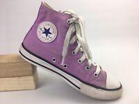 Converse Girls Youth Light Purple Chuck Taylor All-Star Hi Top Shoe Sz 2 US