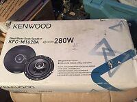 """pair Kenwood KFC-M1628A 6-1/2"""" 3-way Speakers 280W Max, NEW NIB"""