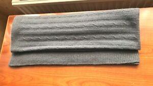 ELEGANT LIVING Wool/Angora Blend Grey Colour Throw/Blanket