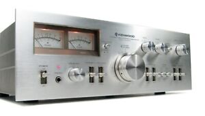 KENWOOD KA-8300 VINTAGE AMPLIFIER SERVICED IN ORIGINAL BOX W MANUAL * MINTY!