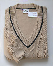 """Superbe Pullover femme neuf,  Col V, coton-laine """"Lacoste-Devanlay"""" - Taille 46"""