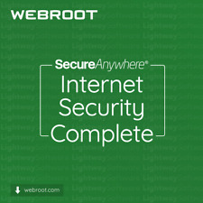 Webroot Internet Security Complete - 1 A 3 Anni Per 5 A 10 dispositivi (Chiave)