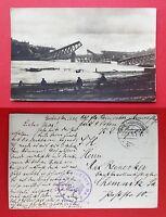 Militär Foto AK 1915 mit Stempel Armee Flugpark 9 Osten zerstörte Brücke ( 32533
