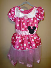 **DISNEY** Girl's Minnie Mouse Costume Dress Size ((4/6X)) 100% Polyester.
