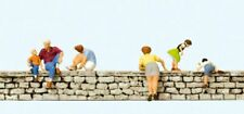 Preiser Ho Scale Model Figure/People Set Sitting/Leaning on a Wall 6-Pack