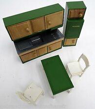 Frade Puppen Möbel der 50-60iger Jahre aus Italien 4teilig-Kunststoff+Holz-Küche