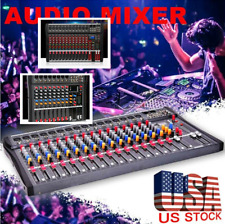 8/12/16 Channel Professional bluetooth Live Studio Audio Mixer power mixing Amp