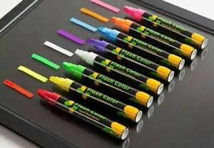 White & Coloured Liquid Chalk Marker Pens For Blackboard Black Signs Chalk Board