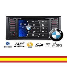 Radio CD DVD GPS para BMW Series E39 M5/ 7 E38 Soporta Mirroring Camara trasera