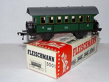 FLEISCHMANN ( 5001 ) JOLIE  VOITURE A ESSIEUX 2eme CLASSE DE LA DB  EN BOITE HO