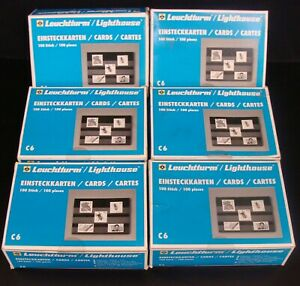 Leuchtturm Lighthouse C6 Archival Stark Cards C 6 stamp collection lot of 6 New