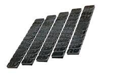 5 Klebegewichte Klebestreifen Klebegewichte schwarz á 60g