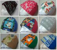 CHOOSE Beanie Cap Hat Scrub Cancer Chemo Head Cover Heart Love Dog Incredibles