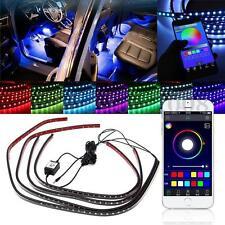 4x RGB LED Unterbodenbeleuchtung Atmosphäre Neon Licht App Musik Control Kit