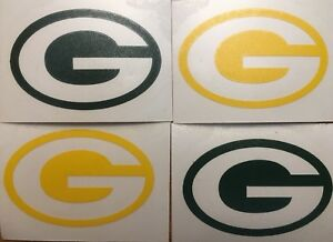 """Green Bay Packers 4 Pack Of Decals 1.5x2.25"""" Vinyl Sticker **FREE SHIPPING**"""