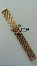 NOS VINTAGE 20MM FINE GOLD LINK WATCH BAND WATCHBAND BRACELET STRAP FOR ZENITH B