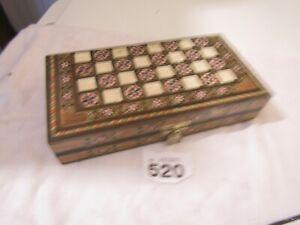 Wooden Decorative Backgammon/Draughts Set