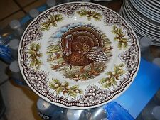 """New Victorian English Pottery Thanksgiving Turkey 8 1/2""""  Plate (s)"""