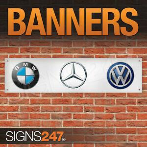 BMW Mercedes Volk s wagens Garage Workshop Banner PVC Sign