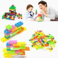 144pc Plastic Building Blocks Bricks Children Kids  Educational Toddler Toy Gift
