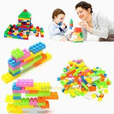 Baby Kids 144Pcs Plastic Building Blocks Bricks Puzzle Toy Educational Gifts
