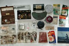 Vintage trout and fly fishing tackle, South Bend, Okuma reels, spoons spinners