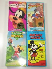 Kids VHS Lot- Walt Disney Cartoon Classics, Goofy, Mickey Mouse: Sealed/New