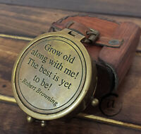 Christmas Pocket compass nautical brass gift Christmas maritime compasses with