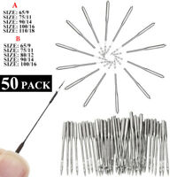 Sewing Machine Needles, 50 Count, Universal Regular Point for Singers 5 Size TK