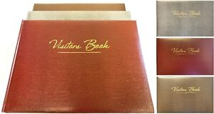 Visitors Book - Large Care Record Sign In Business Hotel Guest Reception House