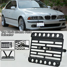 For 98-03 BMW E39 M5 5-Series Front Tow Hook Mount License Plate Bracket No PDC