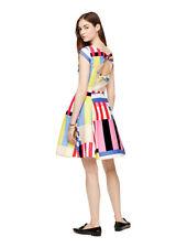 Kate Spade New York Multi Stripe Kite Bow Back Dress Size 8 MSRP: $448.00