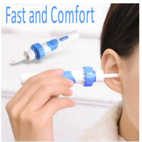 Safety Electric Cordless Vacuum Ear Cleaner Wax Removers Painless Cleaning Tool