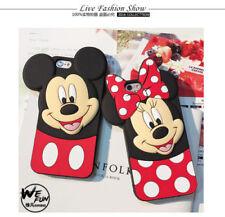 Adorable Disney Mickey Minnie Mouse Polka Dot Silicona Funda Cubierta para Teléfonos Móviles