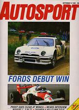 Autosport 12 Sep 1985 - Italian Grand Prix Prost, Ford RS200, Silverstone ETCC