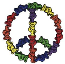 Grateful Dead Dancing Bears Peace Embroidered Patch G048P Phish Jerry Garcia