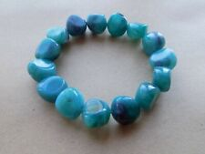 Old Turquoise Coloured Beads Costume Jewellery Bracelet 6 inches