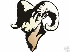 RAM HEAD FULL COLOR  GRAPHIC HOOD DECAL