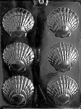 FANCY SHELLS Chocolate Candy Soap mold beach summer nautical ocean animals