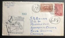 1939 Montreal Canada First Flight Airmail Cover FFC To Botwood
