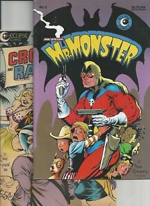 Mr. Monster #4,Crossfire and Rainbow #4 (1986 Eclipse) Dave Stevens Cover art FN