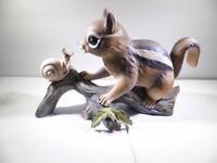 Home Interiors HOMCO Masterpiece Porcelain Chipmunk Snail Handpainted Figurine