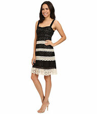 Nanette Lepore Lace Panel Feel the Music cream/black NWT 6 $398.00