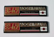 2x Yoshimura Japan Aluminum Plate Decal Exhaust System Sticker Gold