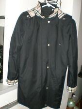 BURBERRY Ladies BLACK  Trench Coat w Removable Lining - Size 6R PLAID RAIN COAT