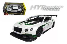 BBURAGO 1:24 RACE BENTLEY GT3 #7 DIE-CAST WHITE 28008